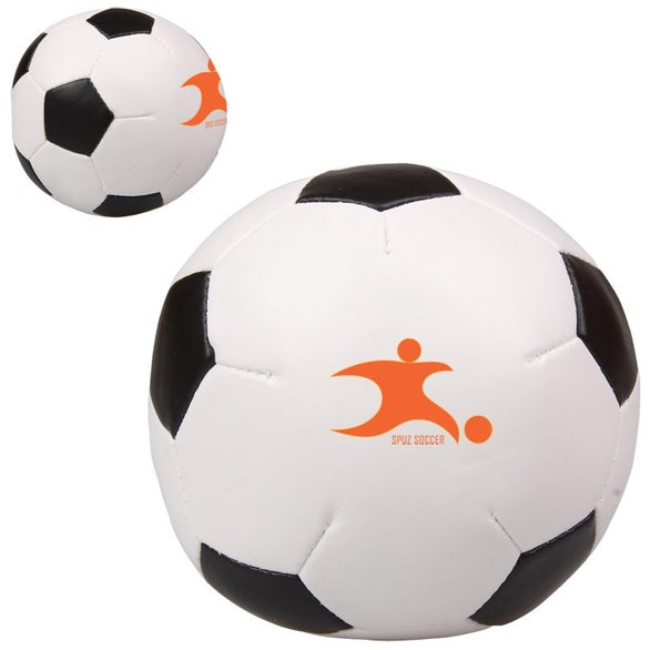 White / Black Soccer Ball Pillow