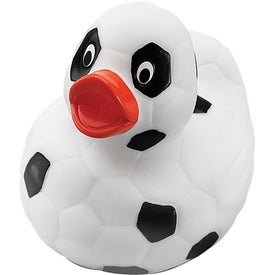 Soccer Rubber Duck with Your Logo