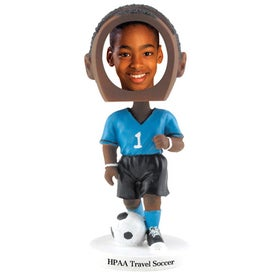 Soccer Photo Frame Bobble Heads