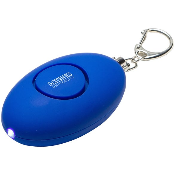 Blue Soft Touch LED Light and Alarm Key Chain