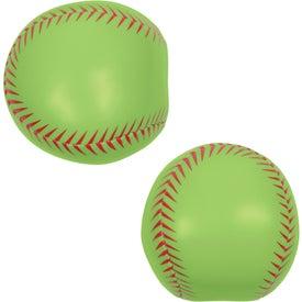 Softball Pillow Ball with Your Slogan