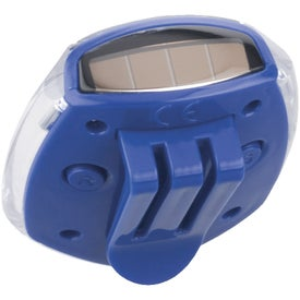 Solar-Powered Pedometer Imprinted with Your Logo