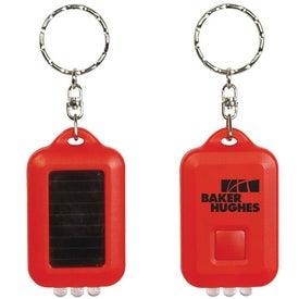 Branded Solar Powered LED Keytag