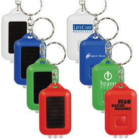 Solar Powered LED Keytag Imprinted with Your Logo