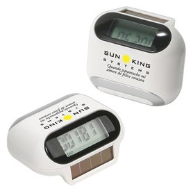 Logo Solar Powered Pedometer
