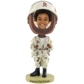 Soldier Photo Frame Bobble Heads