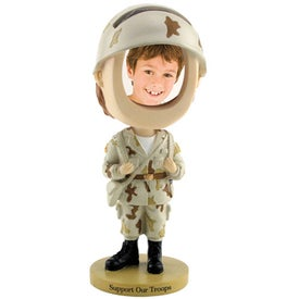 Custom Soldier Single Bobble Head