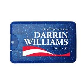 Sparkle Bling Credit Card Hand Sanitizer Spray for Customization