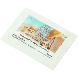 Sunblock Packet Printed with Your Logo