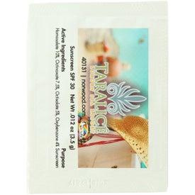 Sunblock Packet for Promotion