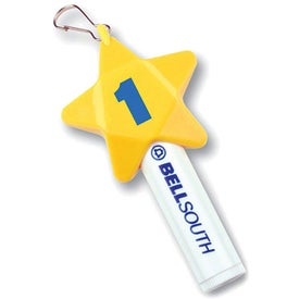 SPF 30 Lip Balm Star Design Zipper Pull Cap