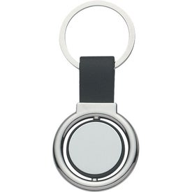 Circular Metal Spinner Key Tag Branded with Your Logo