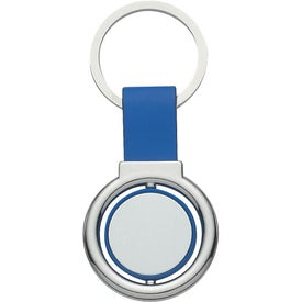 Company Circular Metal Spinner Key Tag