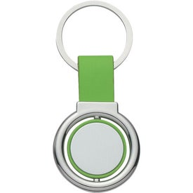 Imprinted Circular Metal Spinner Key Tag