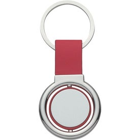 Branded Circular Metal Spinner Key Tag