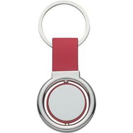 Branded Circular Metal Spinner Key Tag