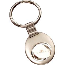Spinning Oval Keytag