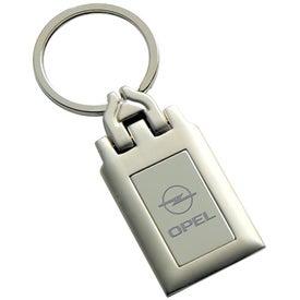 Logo Split Ring 2 Tone Metal Keyholder