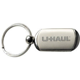 Split Ring Brushed Metal Keyholder for Advertising