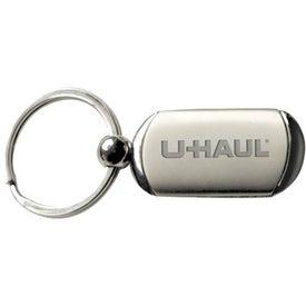 Split Ring Brushed Metal Keyholder for Advertising