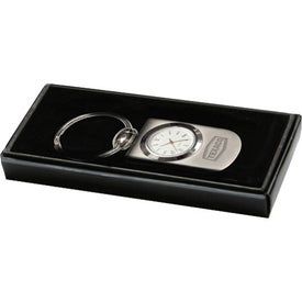 Monogrammed Split Ring Quartz Analog Clock Key Holder