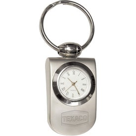 Split Ring Quartz Analog Clock Key Holder