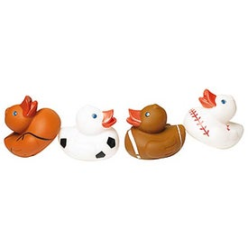 Customizable Sports Rubber Duck