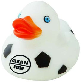"Sports Rubber Duck (2"", Soccer)"