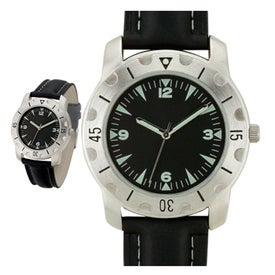 Promotional Brushed Silver Sports Styles Unisex Watch
