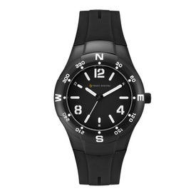 Matte Black Sports Styles Unisex Watch