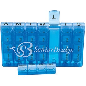 Spring Action 28-Compartment Pill Box for Your Organization