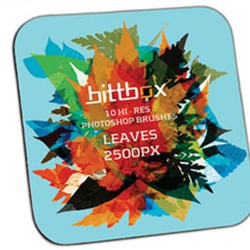 Personalized Square Coaster with Black Rubber Backing