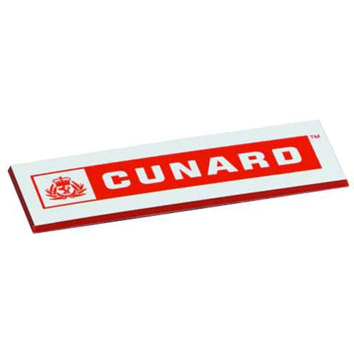 White Square Corners Name Badge