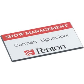 Square Corners Name Badge with Your Logo