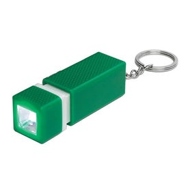 Square LED Key Chain Branded with Your Logo