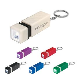 Square LED Key Chain