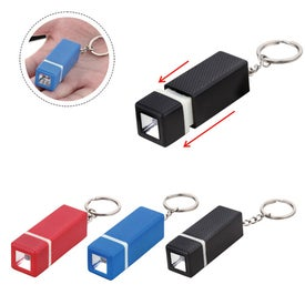Square LED Keychain