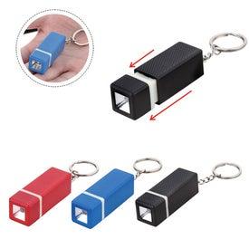 Square LED Keychain