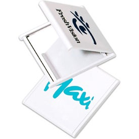 Square Mirror Printed with Your Logo