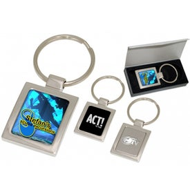 Advertising Square Nouveau Inlaid Keychain