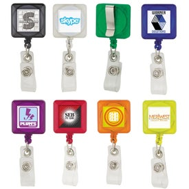 Square Badge Holders with Standard Clip