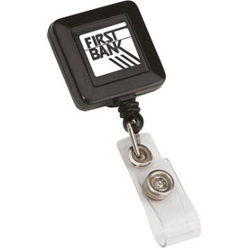 Promotional Square Retractable Badge Holder