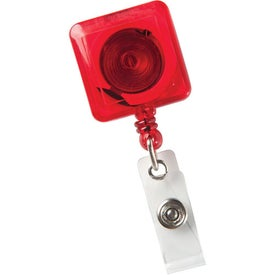 Square Secure-A-Badge Holder Imprinted with Your Logo