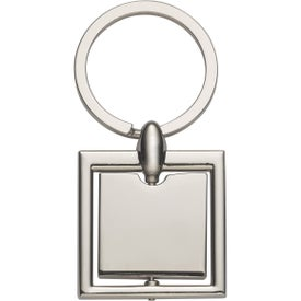 Square Spinning Metal Key Tag