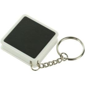 Square Tape Measure Key Tag for Marketing