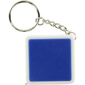 Logo Square Tape Measure Key Tag