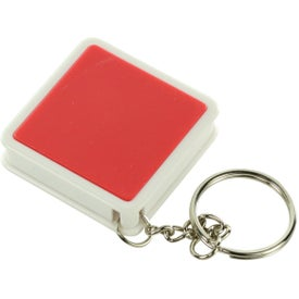 Square Tape Measure Key Tag for Your Organization
