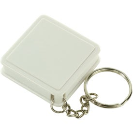 Square Tape Measure Key Tag Printed with Your Logo