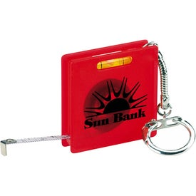 Square Tape Measure Level Keyholder Giveaways
