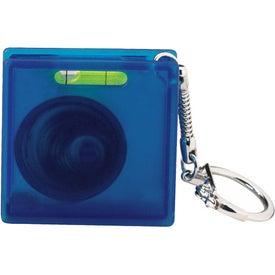 Imprinted Square Tape Measure Level Keyholder